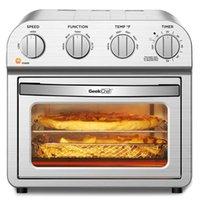 10QT 대류 에어 프라이어 오븐 따뜻한, 브로일, 토스트, 빵, 오일 프리, 스테인레스 스틸, 실버 주방 식당 적외선
