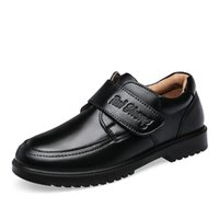 Flat Shoes Boys Wedding Leather For Kids Genuine School Children Oxford Dress Banquet Black Rubber Sole Pigskin Inside