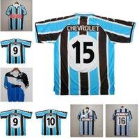 GREMIO 2000 rétro Soccer Jerseys 1995 1996 Zinho Nene Warley Alegre Accueil Vintage Vieille chemise de football classique