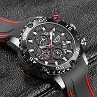 Hommes Montres pour hommes 2021 Lige Top Brand Horloge imperméable Homme Strap Sport Sport Quartz Watch pour hommes Big Cadran Chronographe Montre-bracelet