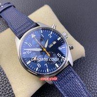 V2 Versão de Atualização ZF 391021 Blue Dial Cal.79320 7750 Cronógrafo Mens automático Relógio 18K Rose Gold Case Cronômetro de couro Sport Watches K8-1