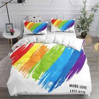 الملونة قوس قزح مجموعة مفروشات 3d طباعة النفط اللوحة حاف الغطاء المنزل مخصص الكرتون سرير لحاف لغرفة النوم مجموعات