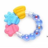 سيليكون الأسنان الصمغ التسنين pacifiers دائرة الدائري الطفل خشخيشات عض لعبة طفل لطيف الرضع جرس الجملة مولي قضيب DHD5875