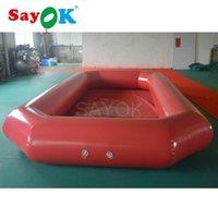 بركة سباحة تخصيص 0.9mmpvc نفخ الكرة المياه / نفخ حمام السباحة / نفخ أحمر للبيع