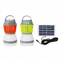 LED المحمولة فانوس مقاوم للماء مصباح البعوض مع لوحة الشمسية USB شحن led uv ضوء الحشرات الحشرات الإلكترونية طارد L5QF #