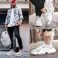 Yeni Moda Erkekler Için Nefes Koşu Ayakkabı Sneakers Adam Platformu Kalın Taban Spor Ayakkabı Marka Açık Koşu Yürüyüş Atletik