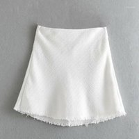 Moda donna BB30-9280 Miniskirt Tweed alla moda europeo e americano1