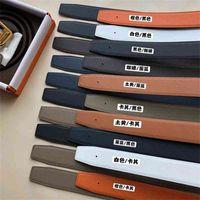 Men's leather women's new high-end belt