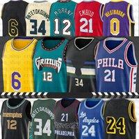 34 Джаннис баскетбол майки 12 JA 23 Morant 0 Westbrook Antetokounmpo 6 LBJ Jersey Embriid 21 Joel Ben 25 Simmons