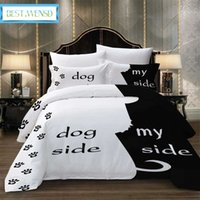 My dog bedding and my king size bed game 3 your bedding you and your super soft Nordic leather game black and white Europe J0604