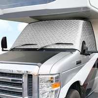 Parts RV Windshield Sunshade Cover, For Class C 1997-2021 Motorhome Snow Cover 4 Layers With Mirror Cutouts