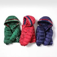 Hipac meninos casaco jaqueta jaqueta inverno criança menina para baixo casual unisex sólido zíper curto com capuz casacos casacos aquecido 201126