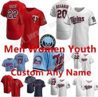 Custom Minesota 2021 Hombres Mujeres Mujeres Jersey Jersey Josh Donaldson Astudillo Arraez Polanco Miguel Sano Byron Buxton Max Kepler Cruz Baseball