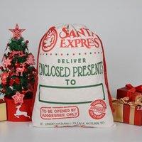 2021 Последние стили Рождественские подарочные сумки большой органический тяжелый холст-мешок Santa Sack Drawstring сумка с реинтерами HWD8886