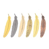 Bookmark Coloffice 2PCs Classical Metal Feather Shape Iron Gifts For Friends Creative Office&School Supplies 11.5x2.3cm