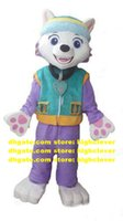 Traje de la mascota de la mascota del perro Everest Perro de la mascota Traje de dibujos animados de adultos Traje comercial Tira de viaje sobre vacaciones ZX319 Free Ship