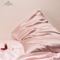 24 Hours Shipping Silky Satin Pillowcase Satin King Queen Size Home Hotel Travel Hair Face Health Envelope Design Pillow Cover