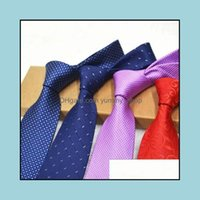 Neck Fashion Aessoriesfashion High-End Ties Formal Business Man 8Cm Tie 44 Kinds Of Color Drop Delivery 2021 Ga6Xp