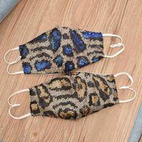 Mermaid Sequins Face Mask Snake Leopard Print Mascherine Double Deck Woman Man Respirator Riding Outdoor Fashion 4 8bs G2