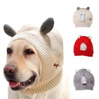 Cute Knitted Hat Winter Cold-proof Warm Puppy Cap Fashion Ear Design Beanie For Pet Dog Apparel