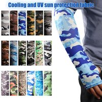 Elbow & Knee Pads 1 Pair Sports Arm Sleeves On Hand Sun UV Protection Cycling Fishing Running Ice Silk Long Tattoo Sleeve Anti-Sunburn Cuff