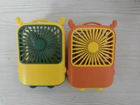 Mini Electric Fans Cartoon Deer Cute Small School Bag USB Charging Desktop Portable Pocket Handheld Fan With Lanyard