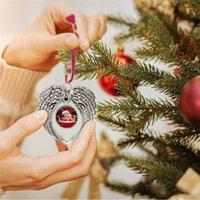 Sublimation Leerzeichen Engelsflügel Ornament Weihnachten Dekorationen Angel Wings Shape Fügen Sie Ihr eigenes Bild und Hintergrund hinzu FWA7065