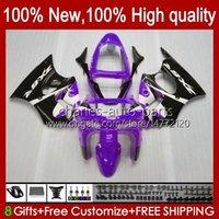 Bodywork For KAWASAKI NINJA ZX-6R 600CC ZX-636 ZX600 1998 1999 Body 16No.112 ZX-600 ZX600CC ZX636 98-99 ZX 636 600 CC 6 R 6R ZX6R 98 99 Motorcycle Fairing Kit purple glossy