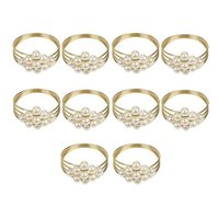 Napkin Rings 10Pcs Lot Buckle Pearl Wedding Ring El Home Holder Table Decorations