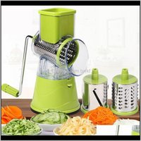 Fruit Tools Kitchen, Dining Bar Home & Garden Drop Delivery 2021 Multi-Function Rotary Shredded Potato Hine Vegetable Grater Manual Cabbage K