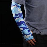 1Pair esporte braço mangas camuflagem cópia ciclismo capa unisex escalada pesca uv proteção luvas de manga