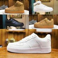 2021 novos homens de alta qualidade 1 sapatos de skate barato um malha EURO Airs High Women Outdoor Todos os White Black Wheat Outdoor Designer Sapatos B2
