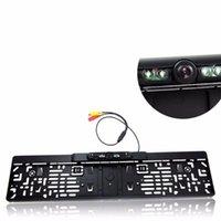 RÁDIO REVERTING CÂMERA 170 ° IR Night Vision License Carro Backup de carro com 2,4G Vídeo Transmissor Receptor Audio