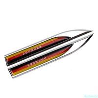 Car Accessories for German Flag Logo Badge Emblem Fender Side Sticker Door Decal for Ford focus 2 Volvo Hyundai Volkswagen golf
