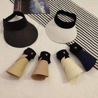 Sombreros anchos Sombreros PROTECCIÓN DE SOL COLLSIBLE MUJER DE VERANO VACÍO VACÍO VACÍO Sombreado Sombreado Visera Paja Gorra