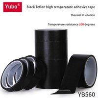 0.18mm Yubo black Teflon high temperature tape highs temperatures resistant insulation vacuum sealing machine