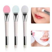 1 stück make-up pinsel doppelte weiche borsten silikon pinsel schönheit mask stick kosmetik bilden tools