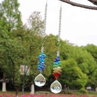 Outlet d'usine Décoration de Noël 5pcs Chakra Crystal Suncatchers Crystals Crystals Crystals Ball Pendentif Pendentif Rainbow Maker