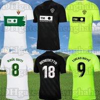 Camiseta Equipación Elche CF Benedetto Futebol Jerseys 2021 22 Raúl Guti Lucas Boyé Casa Maillots de Foot Mascarell Pere Milla Fidel Terceiro Futebol Camisas Kit Adulto