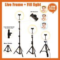 LED Selfie 링 라이브 스트림 / 메이크업 / 비디오 디 밍이 가능한 아름다움 ringlight 삼각대 스탠드 26cm 사진 조명 램프