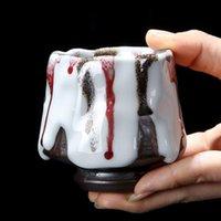 Mugs 125mL Kiln Baked Large Tianmu Jianzhan Firewood Ru Ceramic Tea Set Single Cup Coarse Pottery Master Gift For Friend