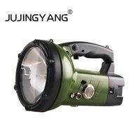 El fenerleri meşaleler jujingyang güçlü ışık xenon seamlight uzaktan şarj elle tutulan lamba