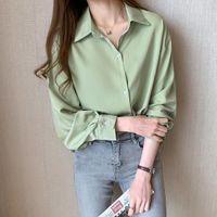 المرأة البلوزات قميص قميص الخريف الرسمي ارتداء الشيفون فضفاض عارضة للنساء بلوزة blusas روبا دي موهير