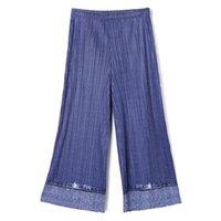 Женские брюки CAPRIS CHANGLEAT 2021 Осенние Женщины прямые Мияк Плиссированный дизайн моды свободный Большой Размер Женский Женский Прилив
