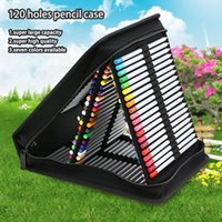 Pencil Cases 120 Holes Folding Stationery Storage Portable Case Multifunctional Painting Student Pen Bag