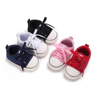 First Walkers Canvas Baby Sneaker Sport Shoes For Girls Boys Born Walker Infant Toddler Soft Bottom Anti-slip