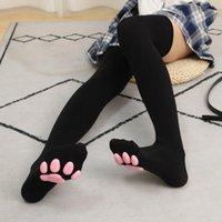 Socks & Hosiery Cat For Women Girls 3D Kawaii Claw Toe Beanies Cute Gift Lolita PawPads Cosplay Pad Thigh High
