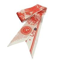 Дизайнерская птица животных напечатана длинная тощая шеи галстука галстука шарф кошелек шарфы ручка головы шарфы для женщин аксессуары для волос