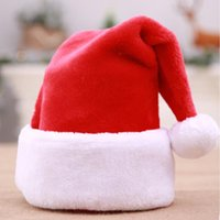 Christmas Decorations Explosive High-end Short Plush Hats Big Ball Thickened Old Man Holiday Dress