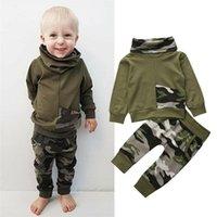 Clothing Sets Born Baby Boy Girl 2PCS Set Clothes Hoodies Sweatshirt Spring Autumn Fall Camo Tops Long Pants Outfits